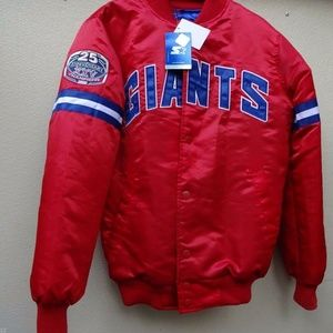 New York Giants Superbowl 25th Anniversary Jacket